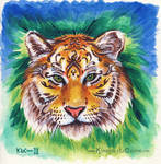 Henna Tigress Painting