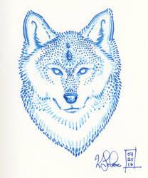 Dotty Wolf by Dreamspirit