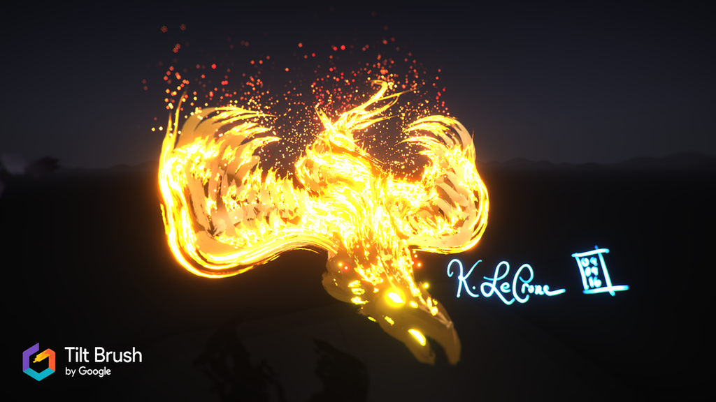 Tilt Brush Phoenix by Dreamspirit