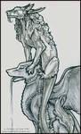 Sketch: Dragon and Gargoyle-CU