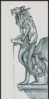 Sketch:Dragon on Gargoyle Full