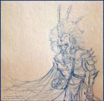 Sketch:Richard in Lion ArmorCU