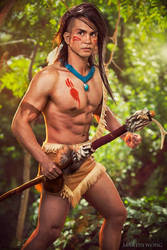 Sakimichan's Pocahontas - Bear In The Woods by JFamily