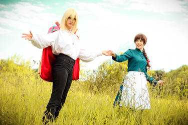 Ghibli - Howl and Sophie by RoteMamba
