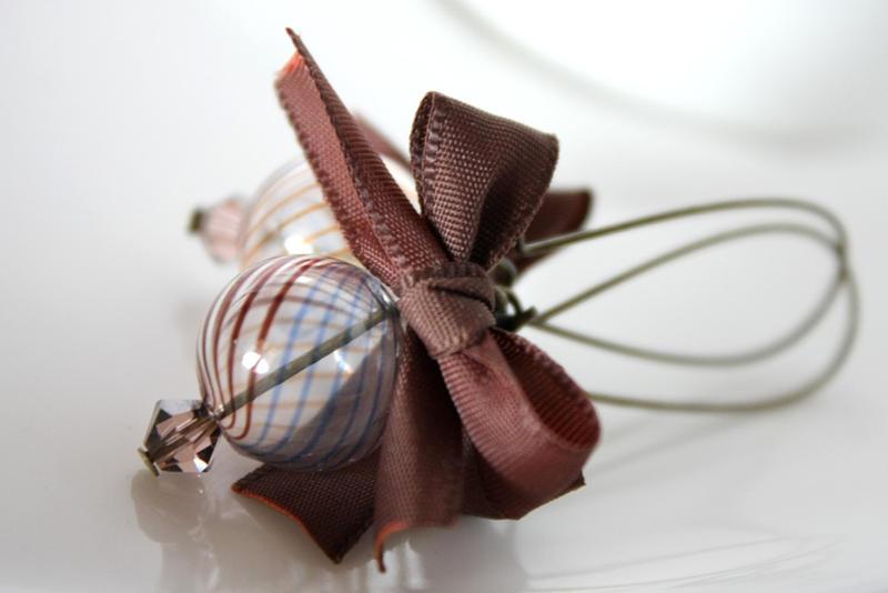 elegance is brown - earrings by dear-dead-ofelia