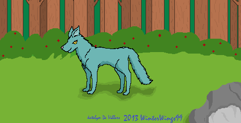 Blue Wolf's Stroll by WinterWings99