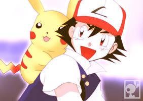 ASH- Pokemon by Gimbozoide