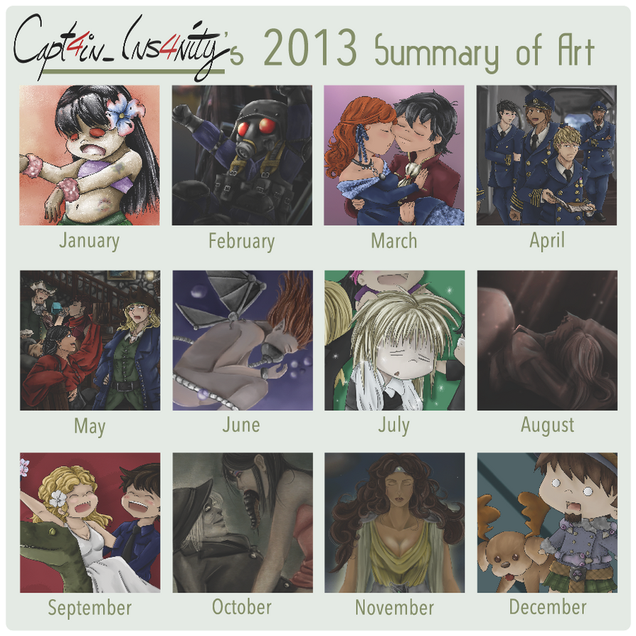 2013SummaryofArt by Capt4in-Ins4nity