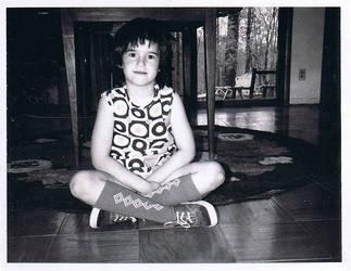 me as a kid in groovy socks by missrex