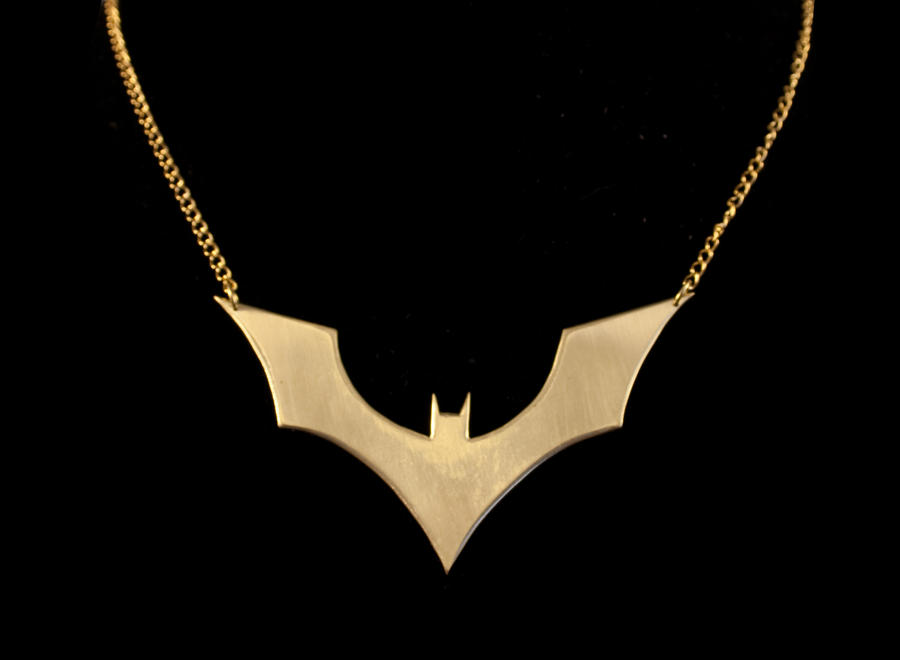 Bat Symbol Necklace by obsidiandevil
