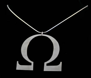 Alice's Omega Necklace by obsidiandevil