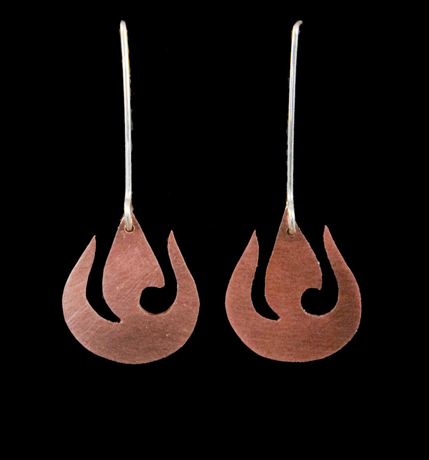 Fire Nation Earrings by obsidiandevil
