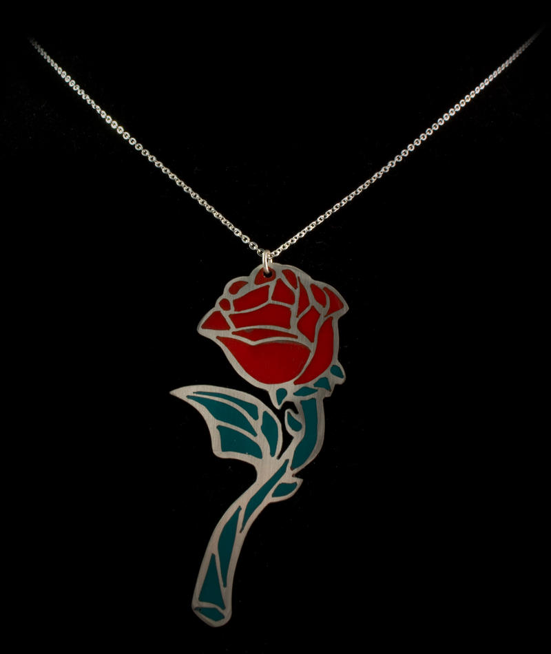 Red rose pendant by obsidiandevil on deviantart red rose pendant by obsidiandevil mozeypictures Images