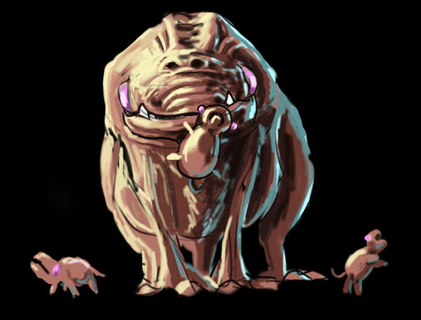 DSG 1354: Creature: AN ALIEN HOLDING ITS BABY