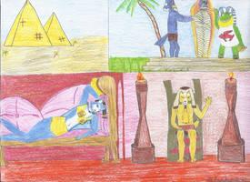 REQUEST: Krystal Fox of Egypt by DeviantSponge45
