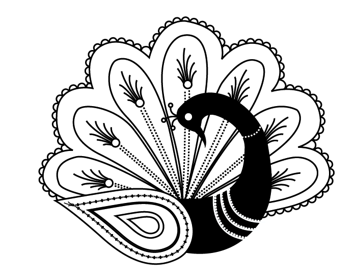 Peacock henna tattoo design by erin904 on deviantart for Peacock tattoo black and white