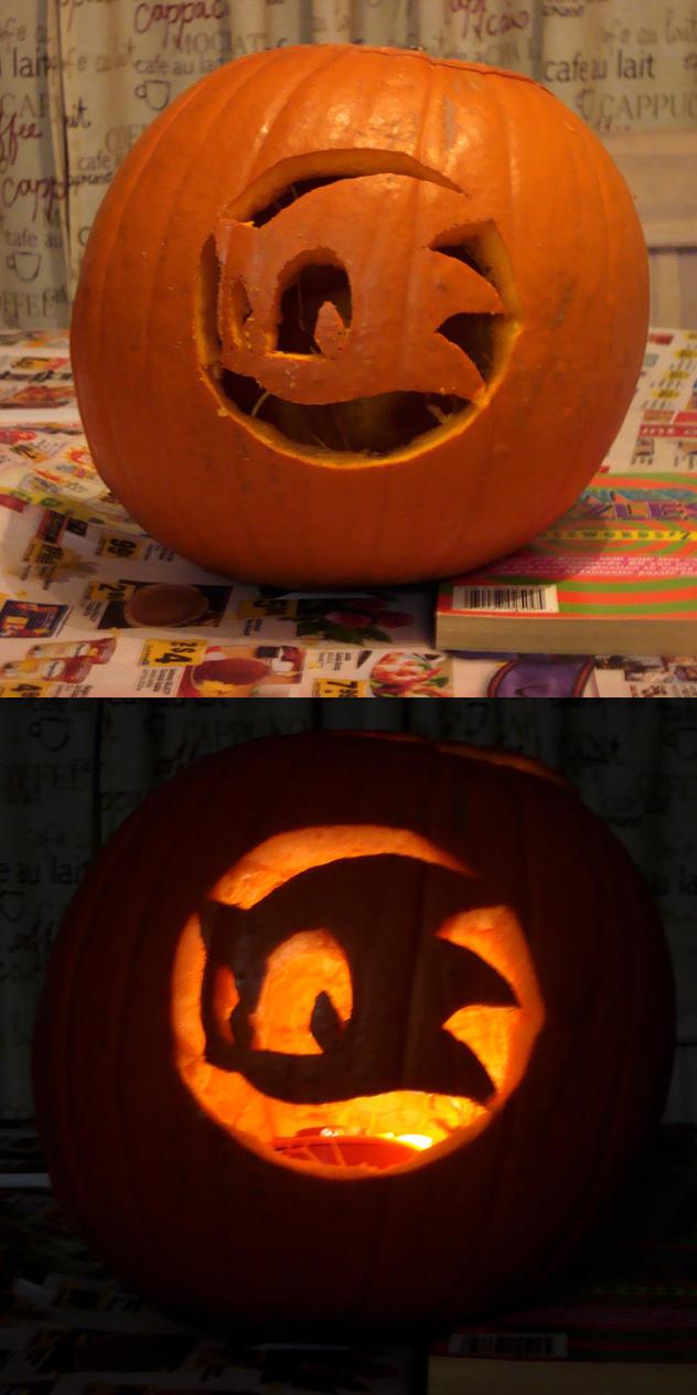 Sonic team logo pumpkin by mjponso on deviantart