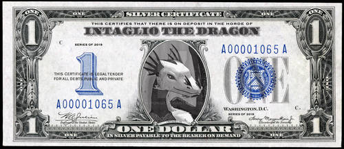 Intaglio the Dragon: Silver Certificate