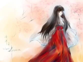 Kikyo of April sakura by Lescca