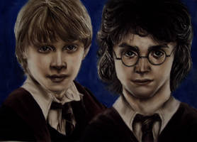 Ron and Harry by Blacleria