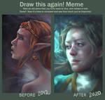 Draw this again: Princess Zelda