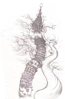 Tower II - Original pencil by PhillyBoyWonder