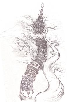 Tower II - Original pencil