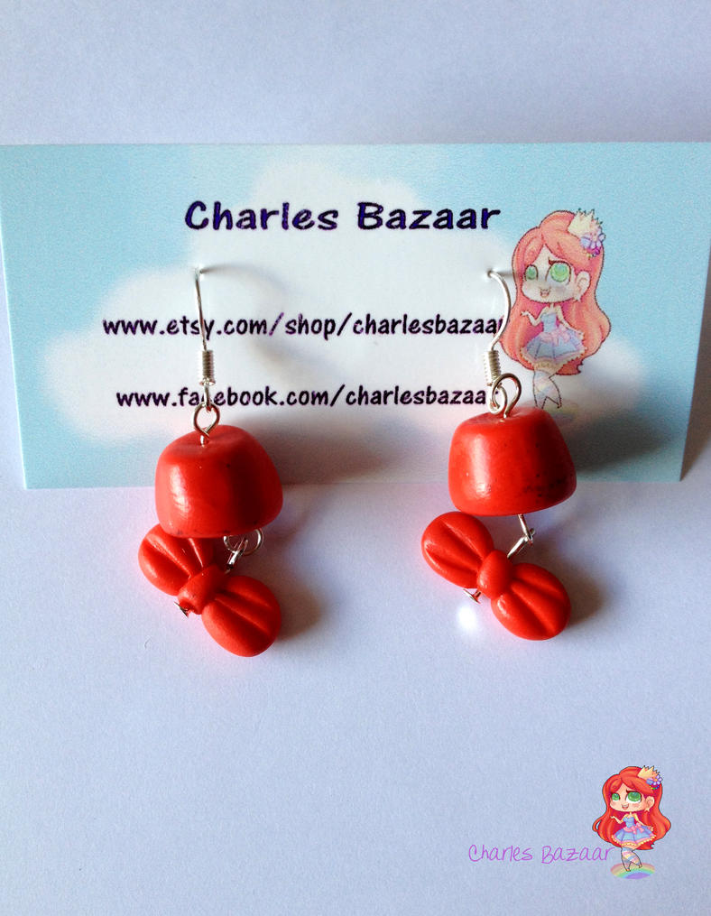 Fez and Bowtie Earrings by CharlesonofCharles
