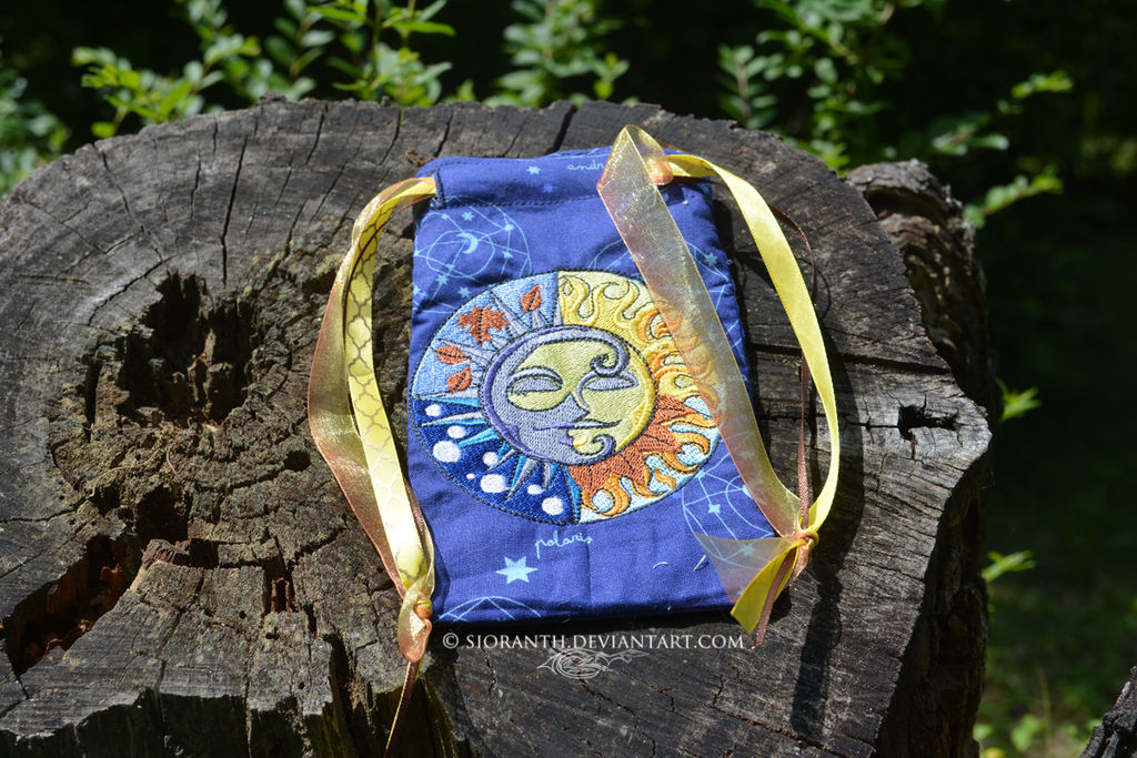 Celestial Seasons Embroidered Pouch