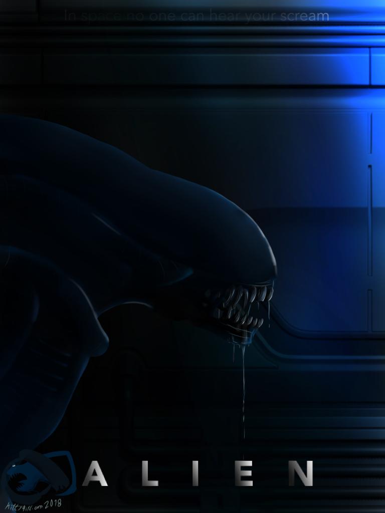 Alien poster by kittygirlxjanax