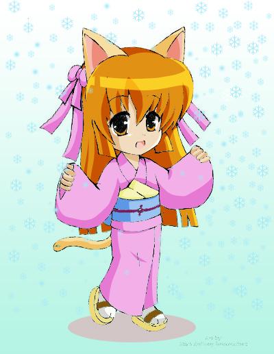 Kitsune Girl Colored by Hokage3