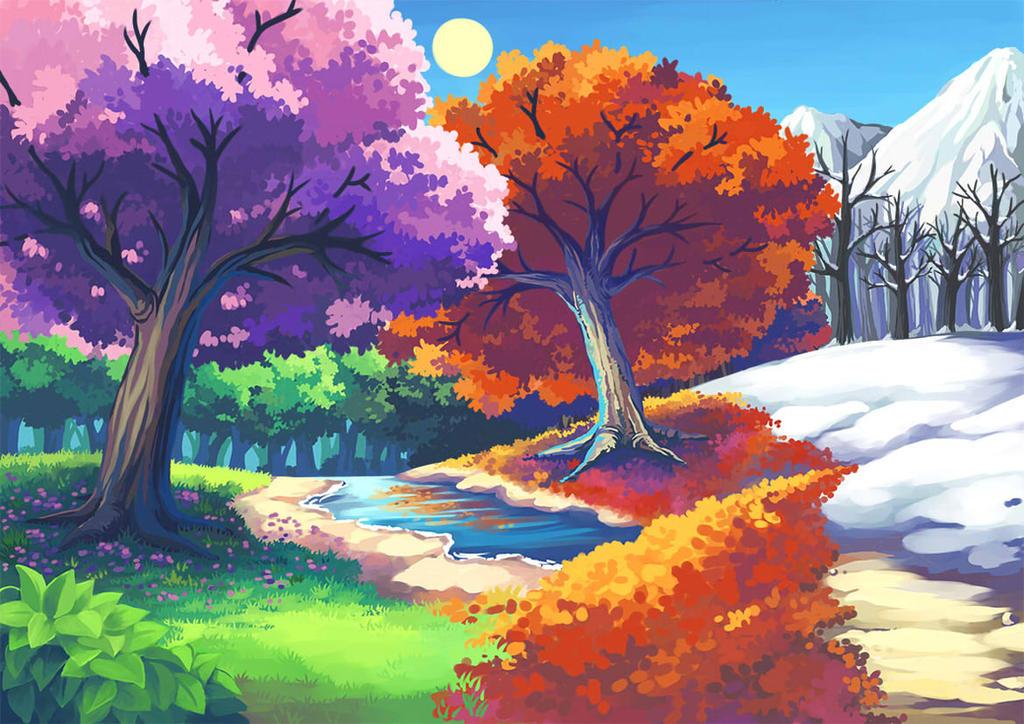 Four Seasons by Hokage3