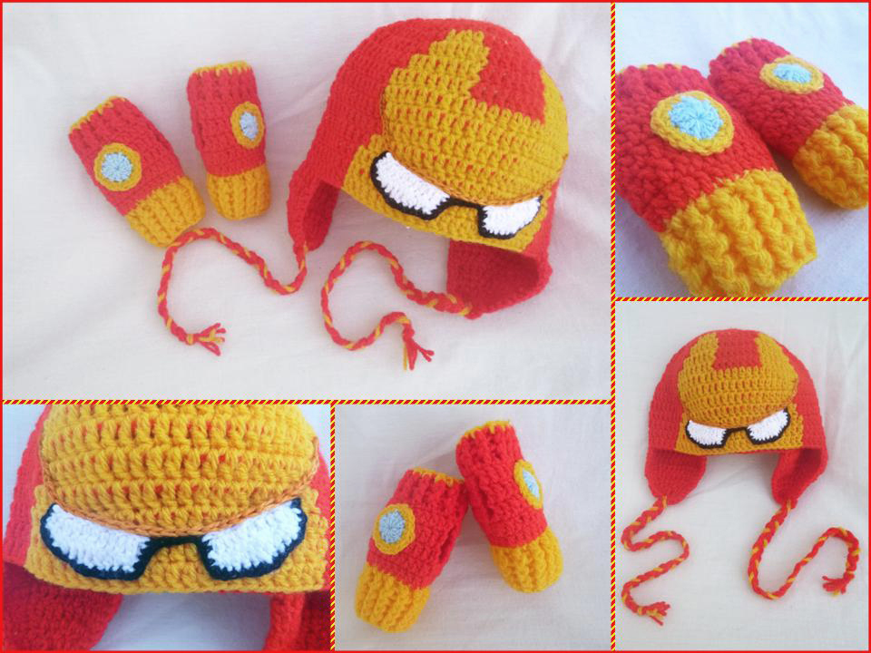Iron Man Set: Hat + Mittens by argentinian-queen on DeviantArt