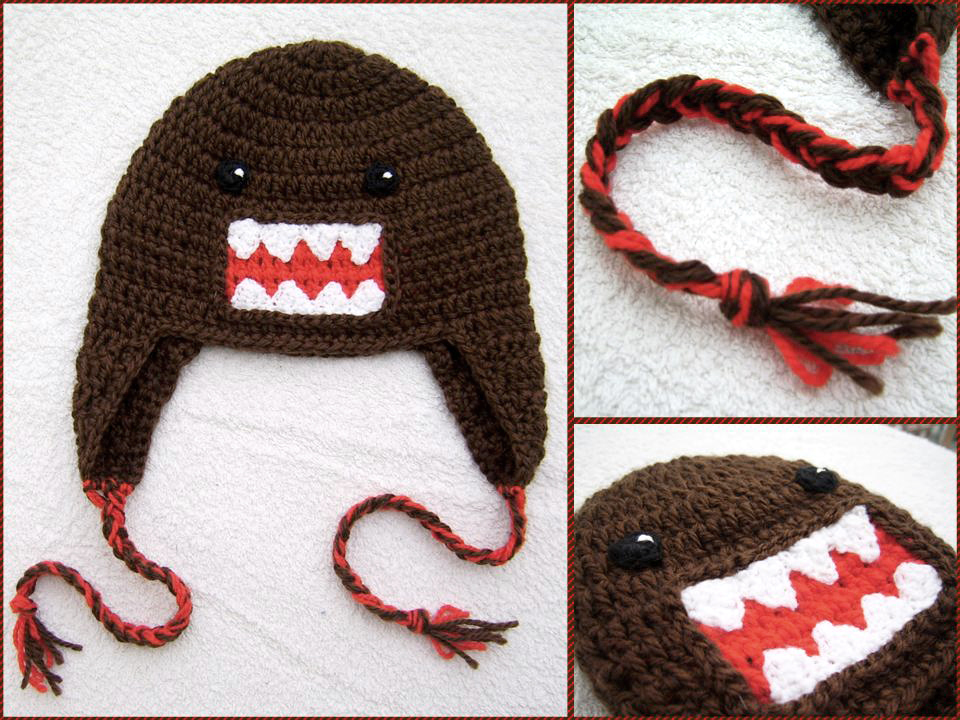 Domo kun earflap hat by argentinian queen on deviantart - Domo bebe ...