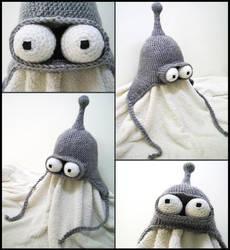 Bender earflap hat by argentinian-queen