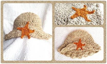 Starfish newborn hat