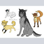 Team Kira as Animals by rinaren