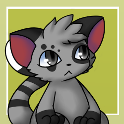 Gray Lemur (Toyhouse Character Icon) by FluffyFoxOfFate