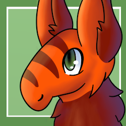 Orange Llama (Toyhouse Character Icon) by FluffyFoxOfFate