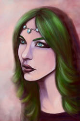 Lady with Green Hair
