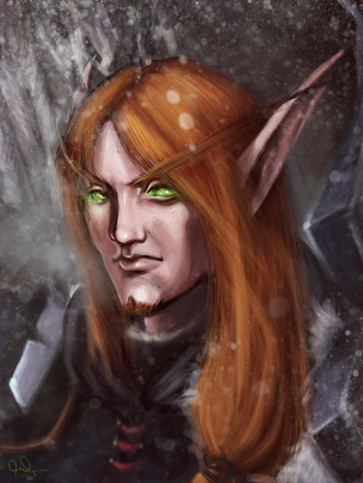 Blood Elf Hunter by GreenGryphon