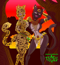 SEXY AFRICAN CAT GIRLS by chriscrazyhouse