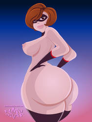 MS INCREDI-BOOTY NUDE by chriscrazyhouse