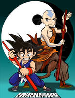 GOKU and AANG by chriscrazyhouse
