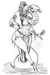 Voodoo Witch Sketch