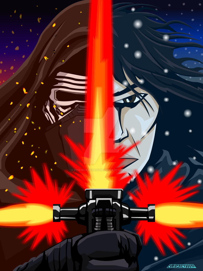 KYLO and BEN by chriscrazyhouse