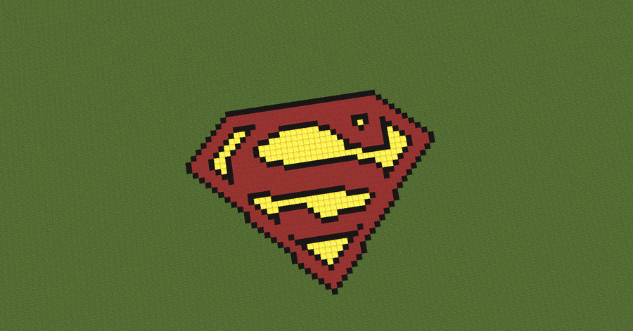 Superman Sign Pixels Minecraft Superman Logo Pixel Art Time