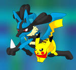 Lucario and Pikachu