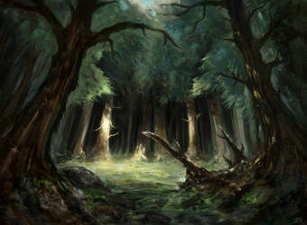 Ancient Woodland Clearing by undercoreart