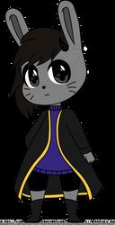 Emo Bunny Chibi by booshippl